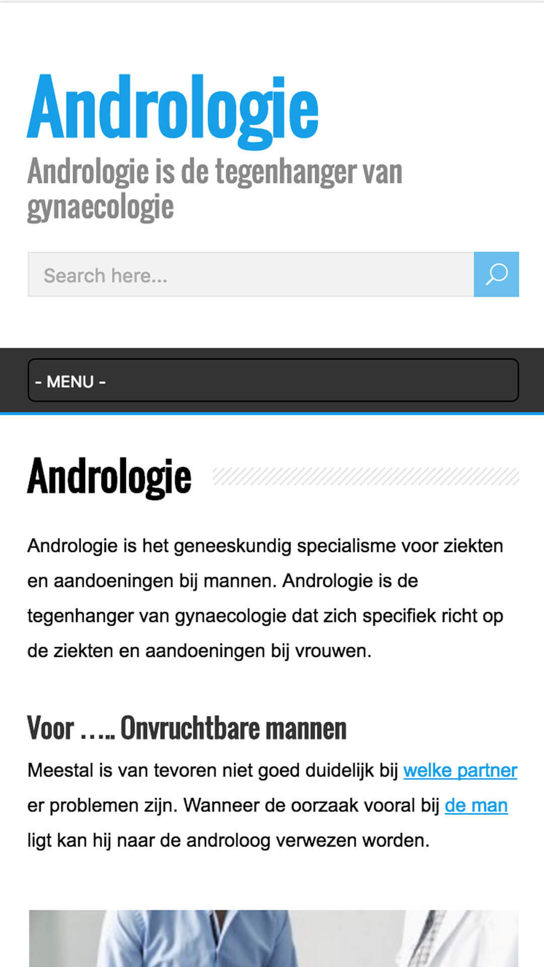 andrologie.nl mobile preview