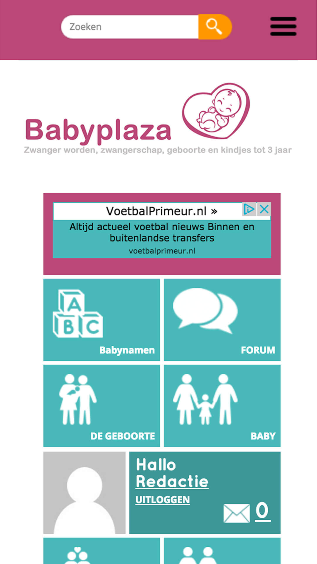 babyplaza.be mobile preview