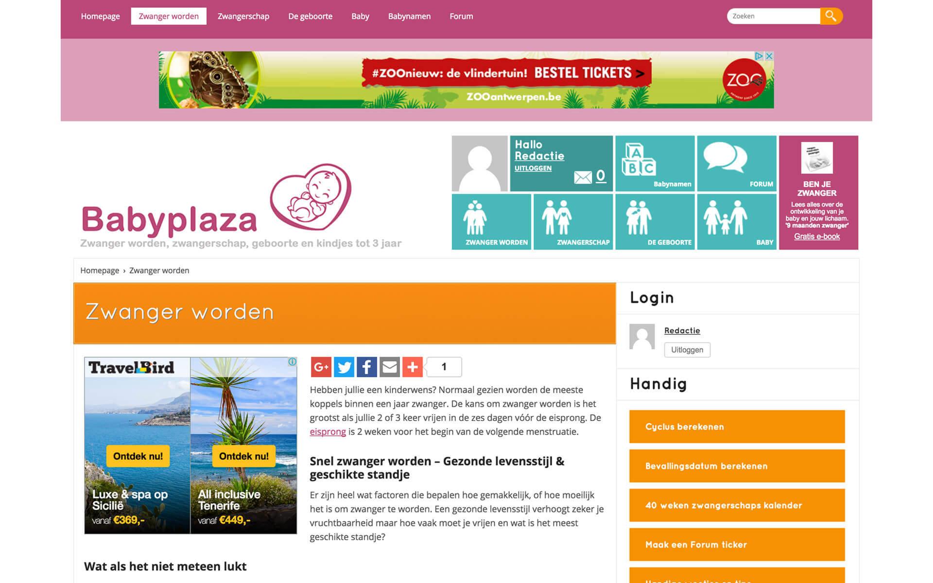 babyplaza.be desktop preview