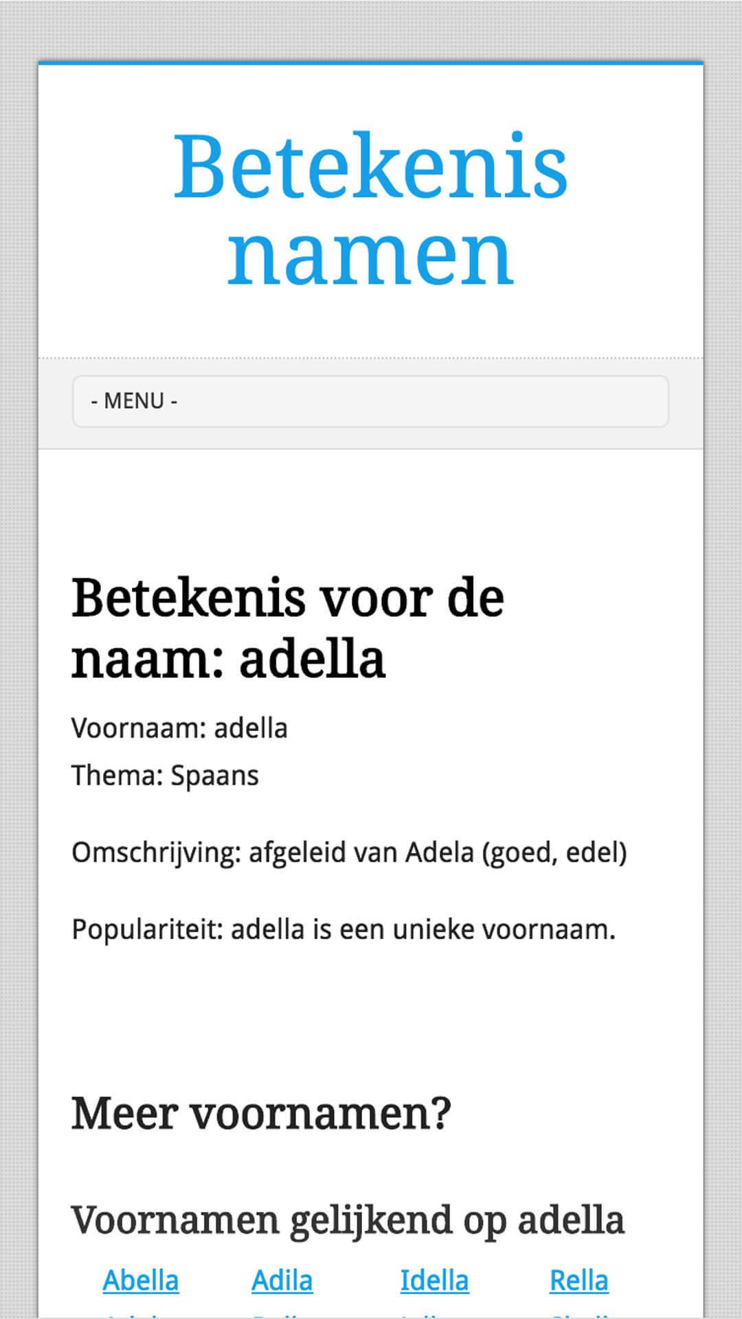 betekenisnamen.org mobile preview