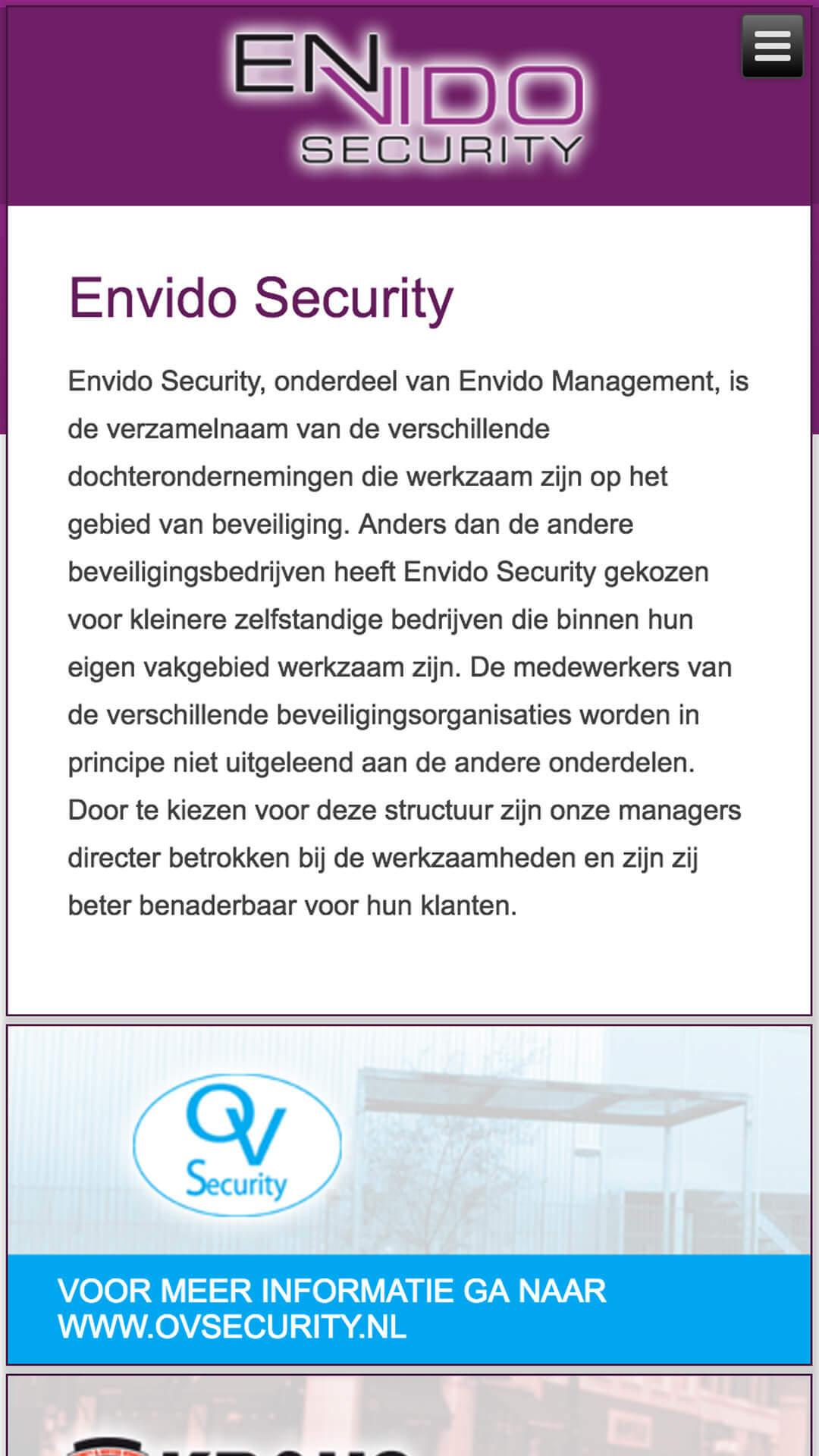 envidosecurity.nl mobile preview