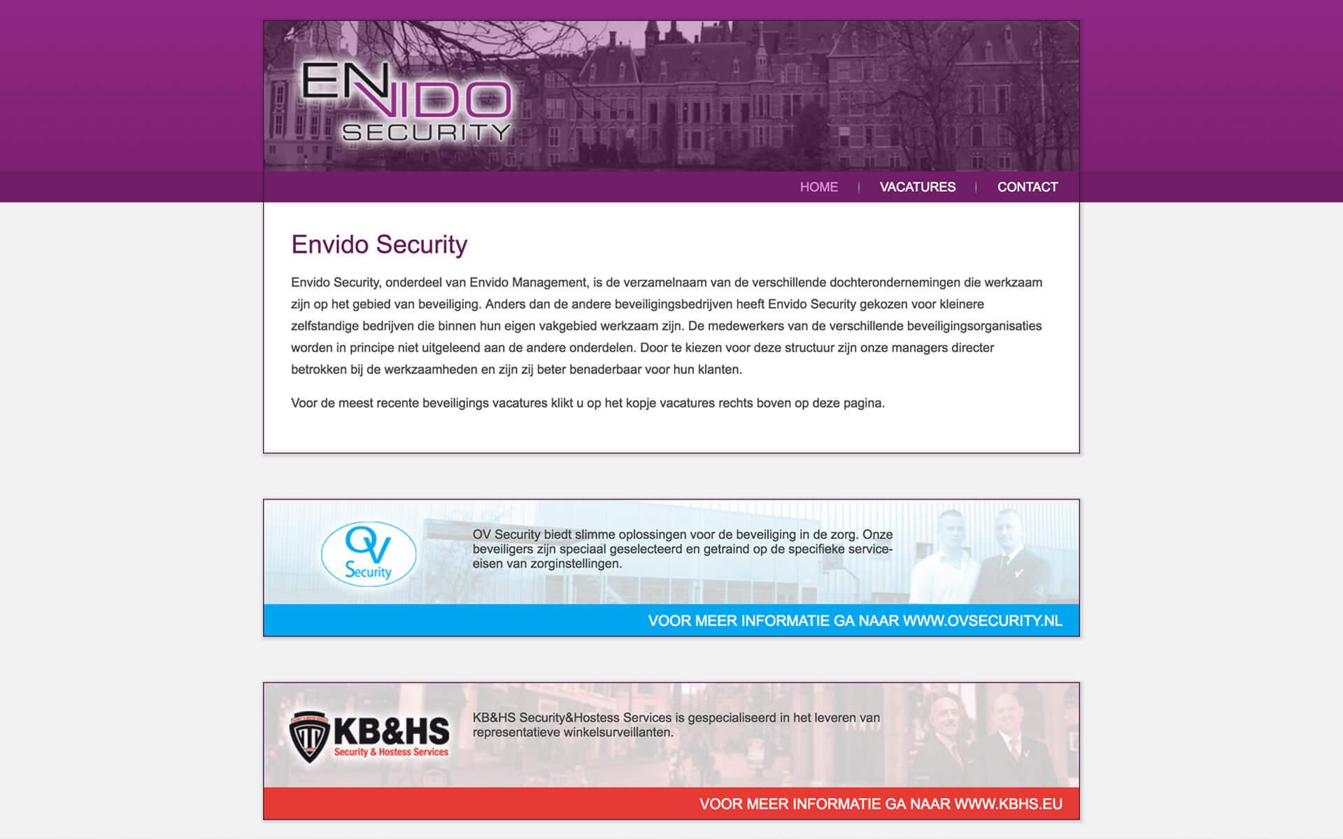 envidosecurity.nl desktop preview