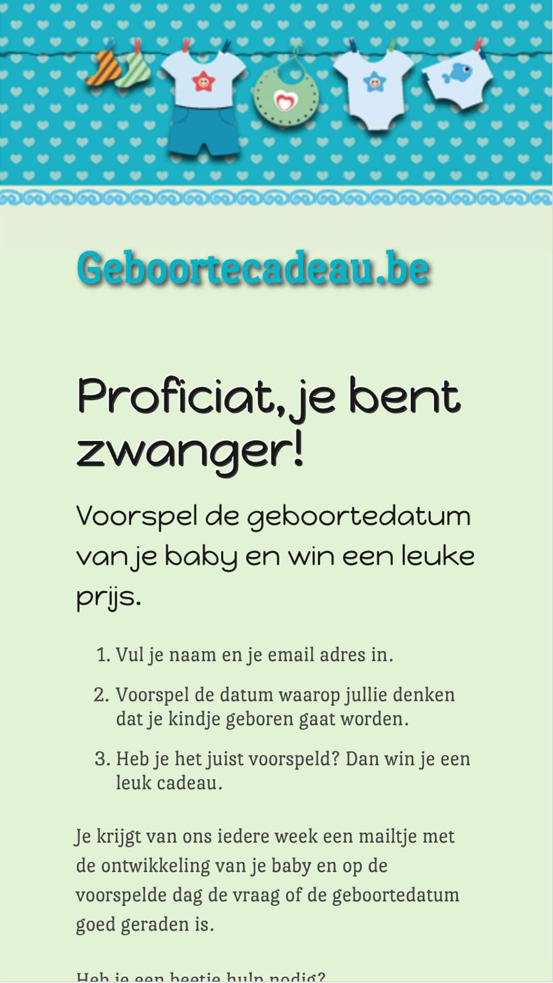 geboortecadeau.be mobile preview