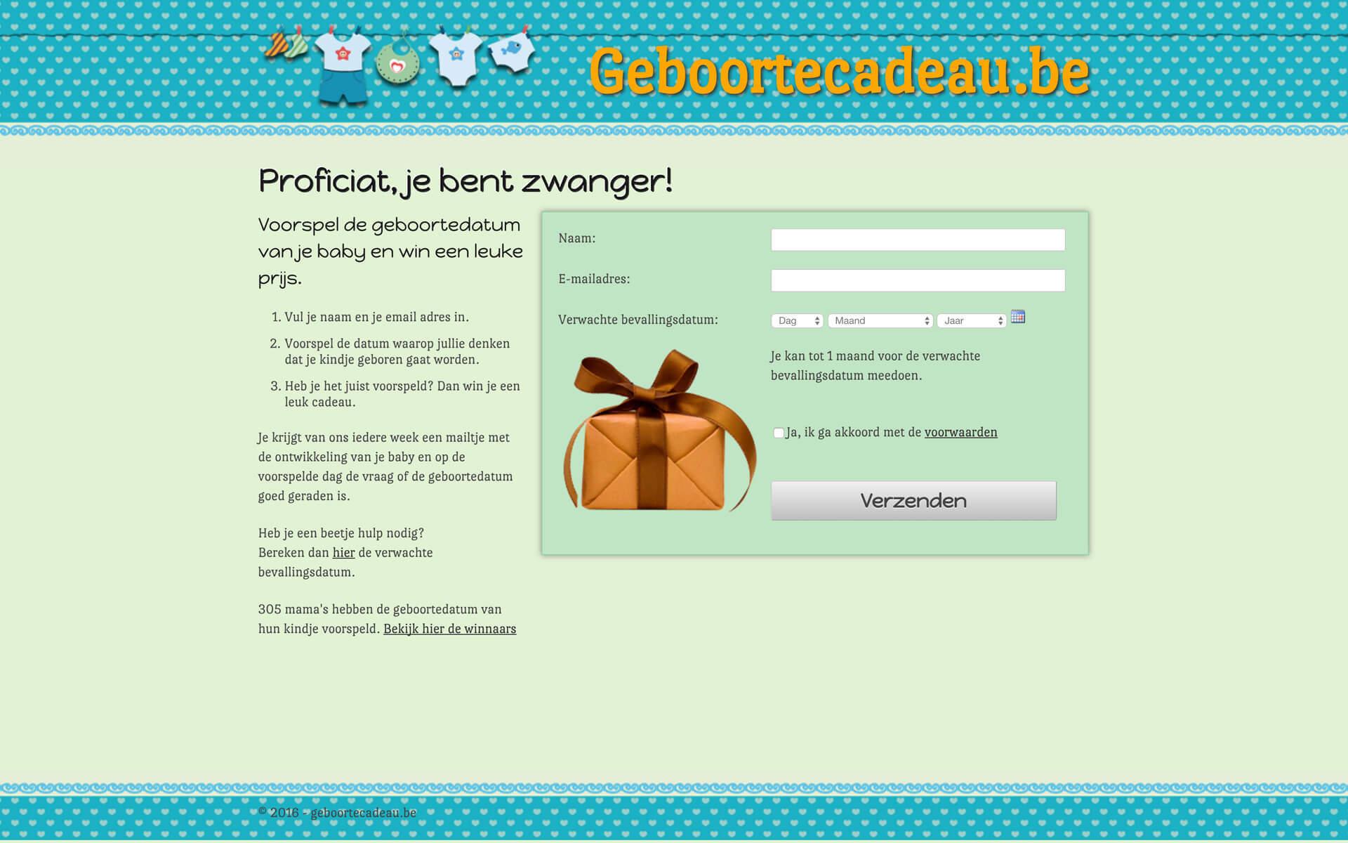 geboortecadeau.be desktop preview