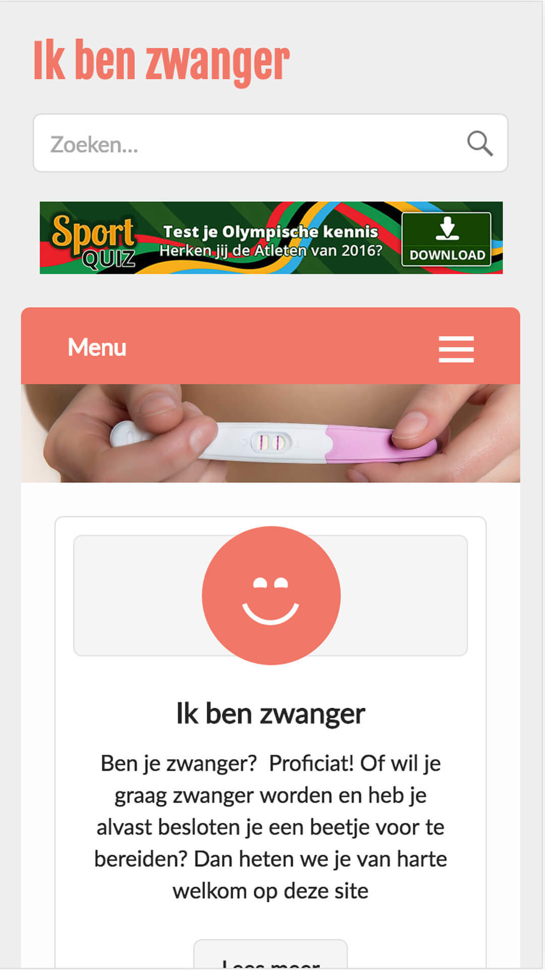 ikbenzwanger.be mobile preview
