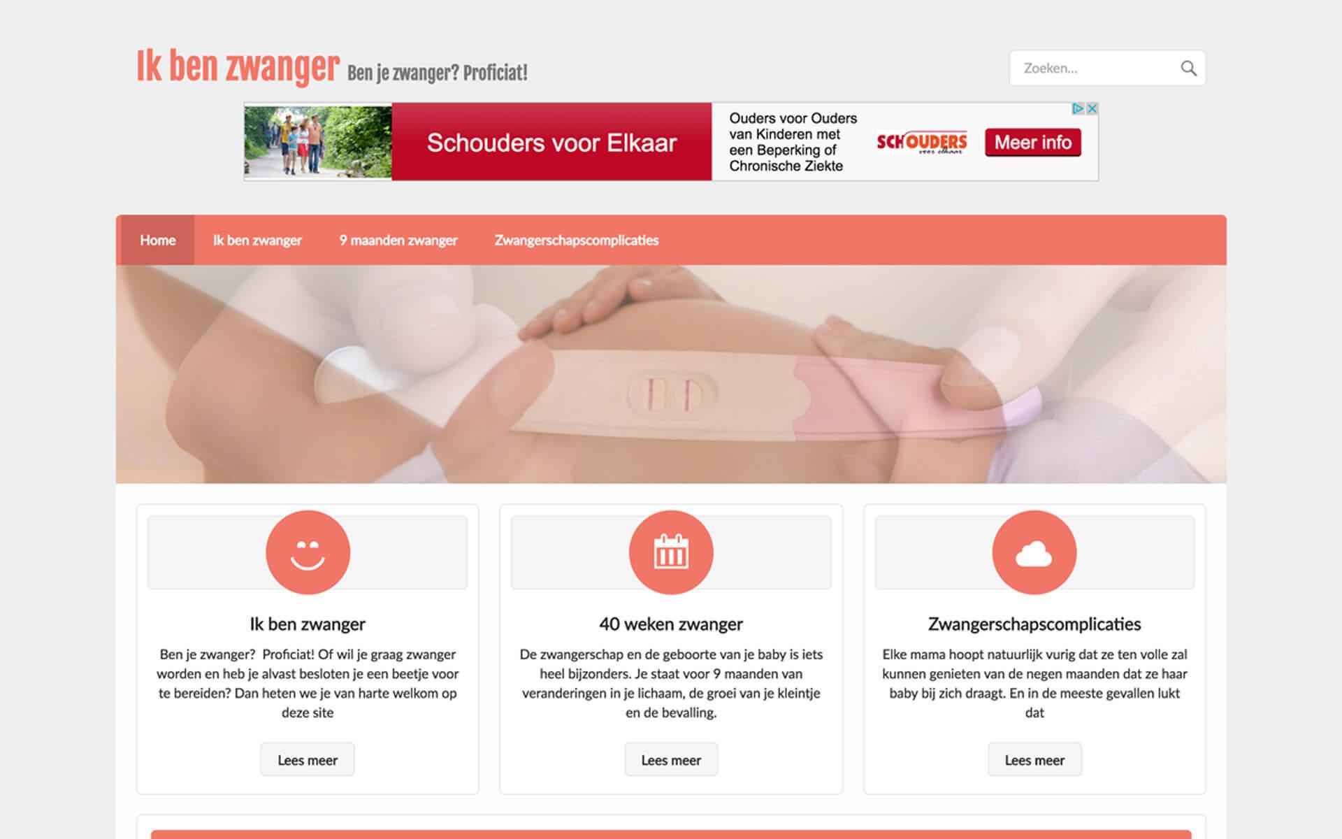 ikbenzwanger.be desktop preview