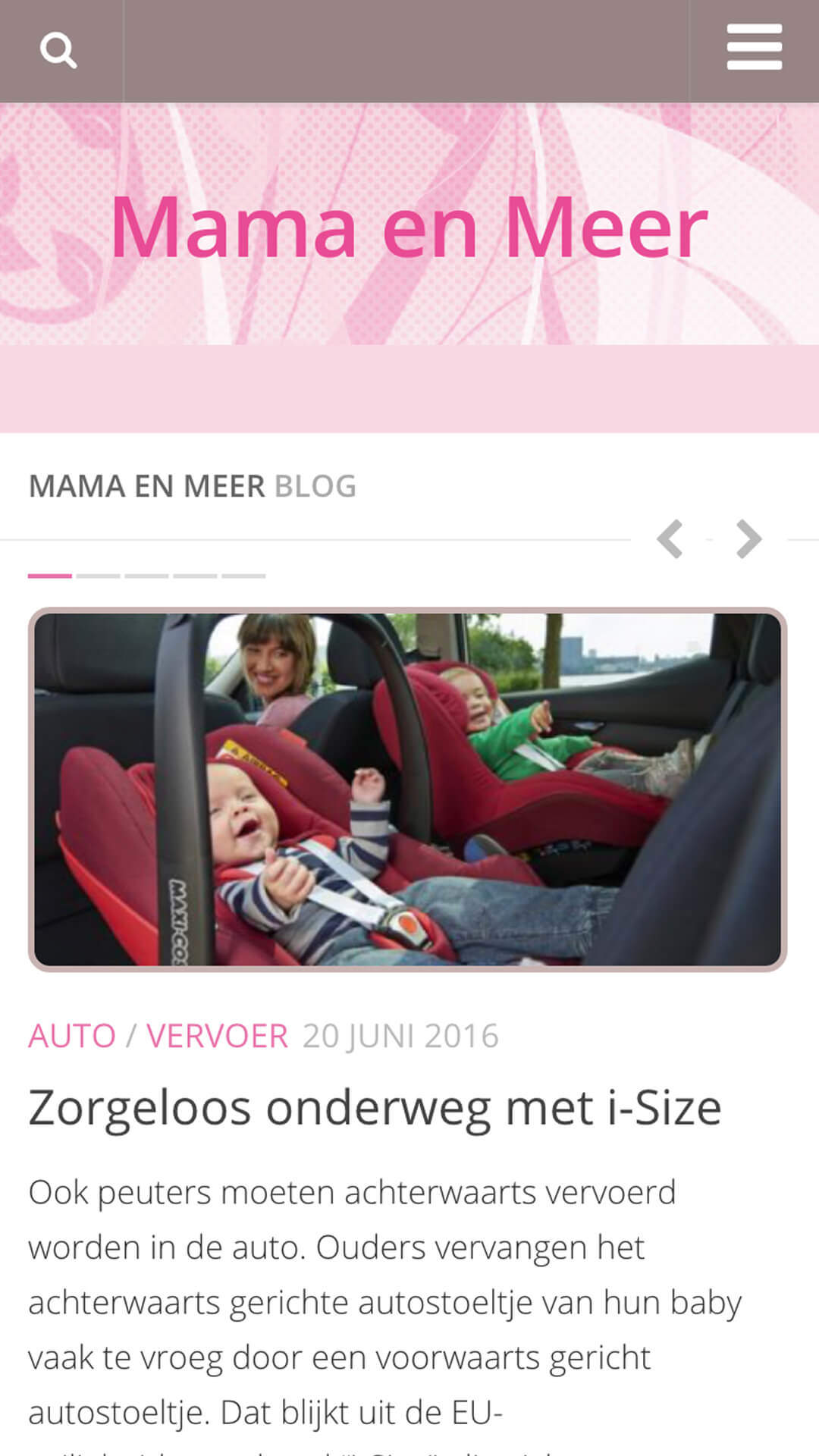 mamaenmeer.be mobile preview