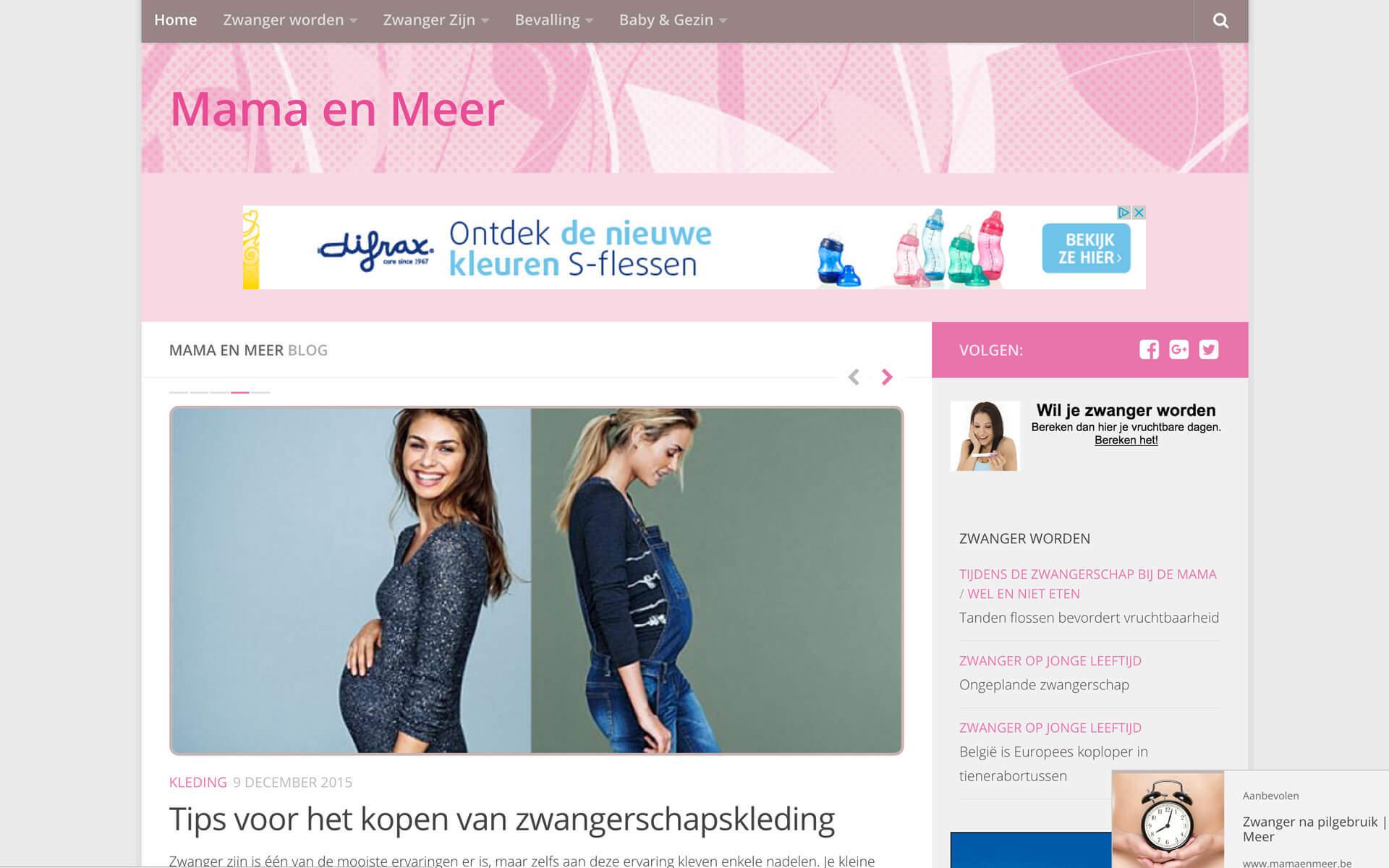 mamaenmeer.be desktop preview