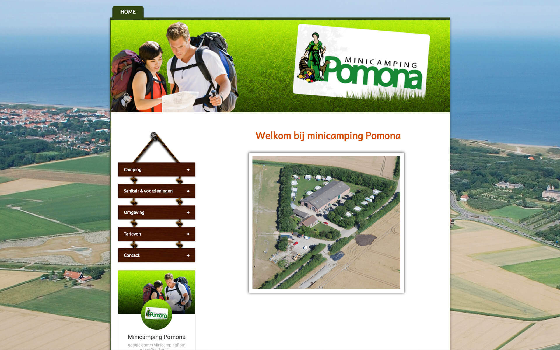 minicampingpomona.nl desktop preview