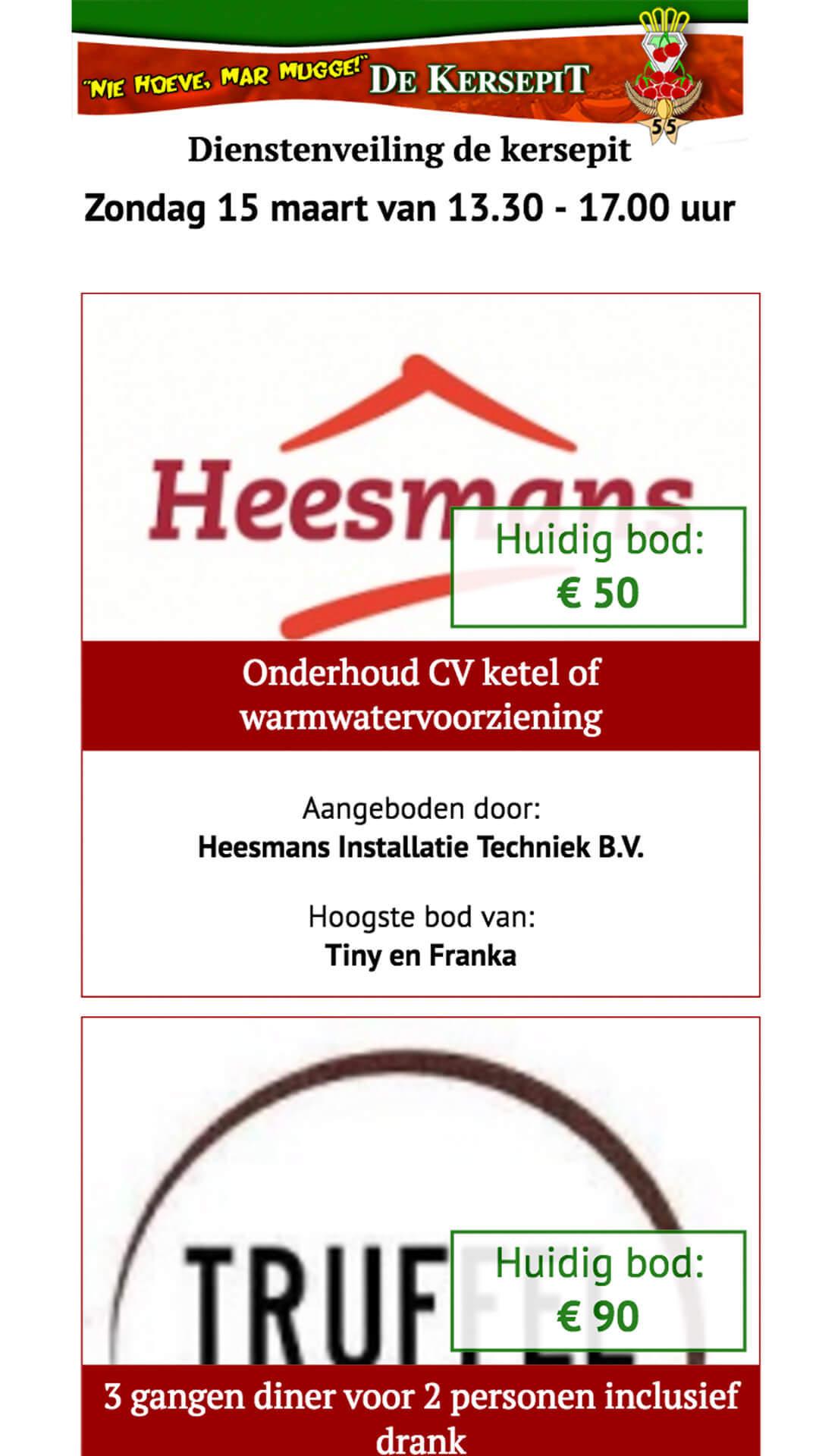 veilingdekersepit.nl mobile preview