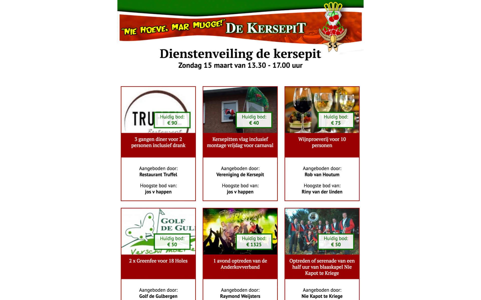 veilingdekersepit.nl desktop preview