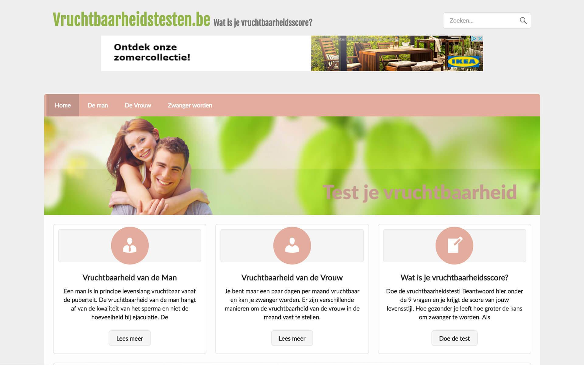 vruchtbaarheidstesten.be desktop preview