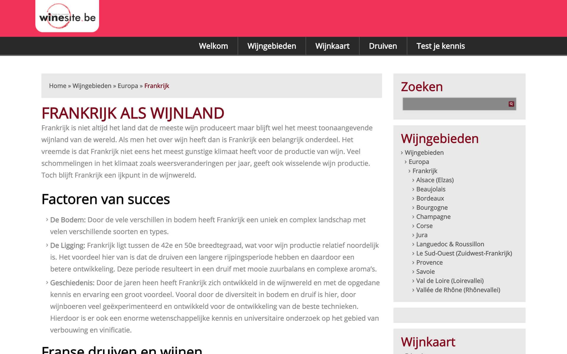 winesite.be desktop preview