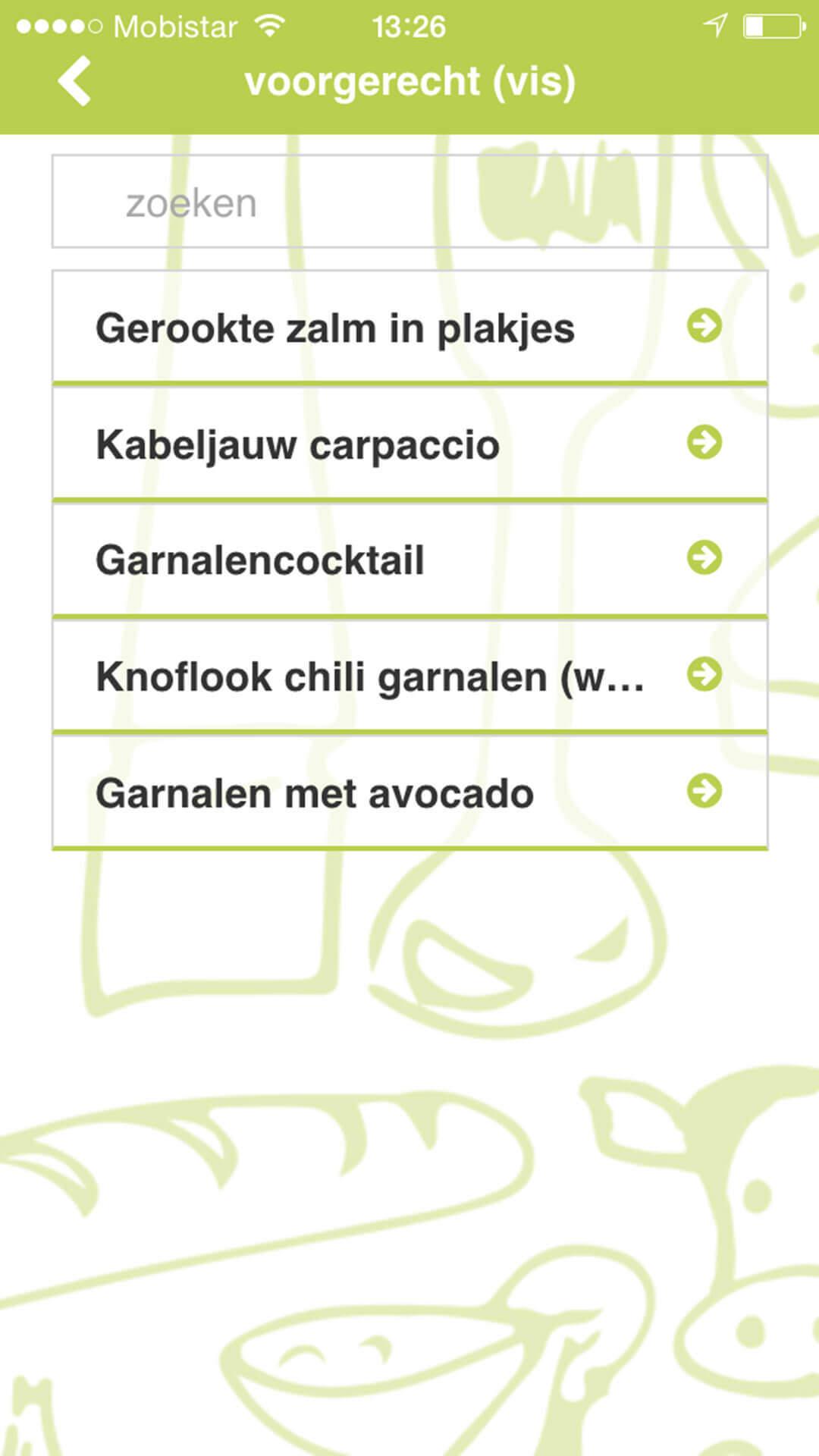 Mimi's Kookboek app preview recepten overzicht