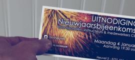 Sfeerbeeld ontwerp uitnodiging nieuwjaarsbijeenkomst