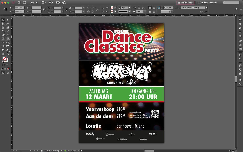 Poster ontwerp 'Foute Dance Classics Party' - denheuvel Mierlo