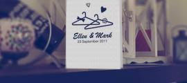 Sfeerbeeld Huwelijksdrukwerk stijl trouwkaart met illustratie