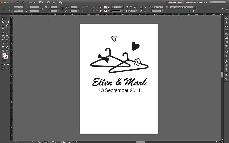 Huwelijksdrukwerk, Trouwkaart ontwerp voorzijde
