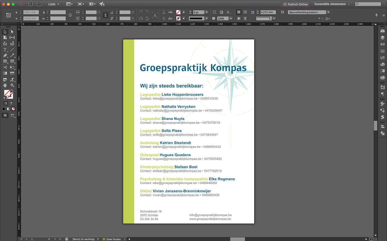 Ontwerp Poster - Groepspraktijk Kompas - Schilde