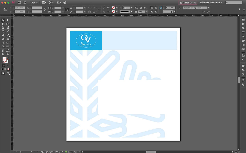 Envelope ontwerp voor bijpassende kerstkaart voor OV security