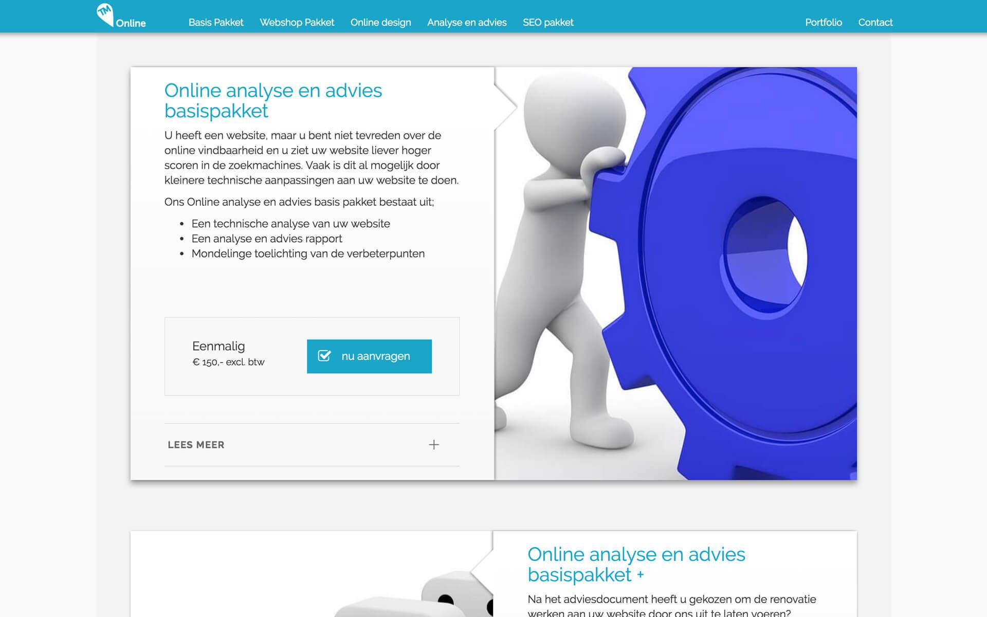 tm-online.be desktop preview