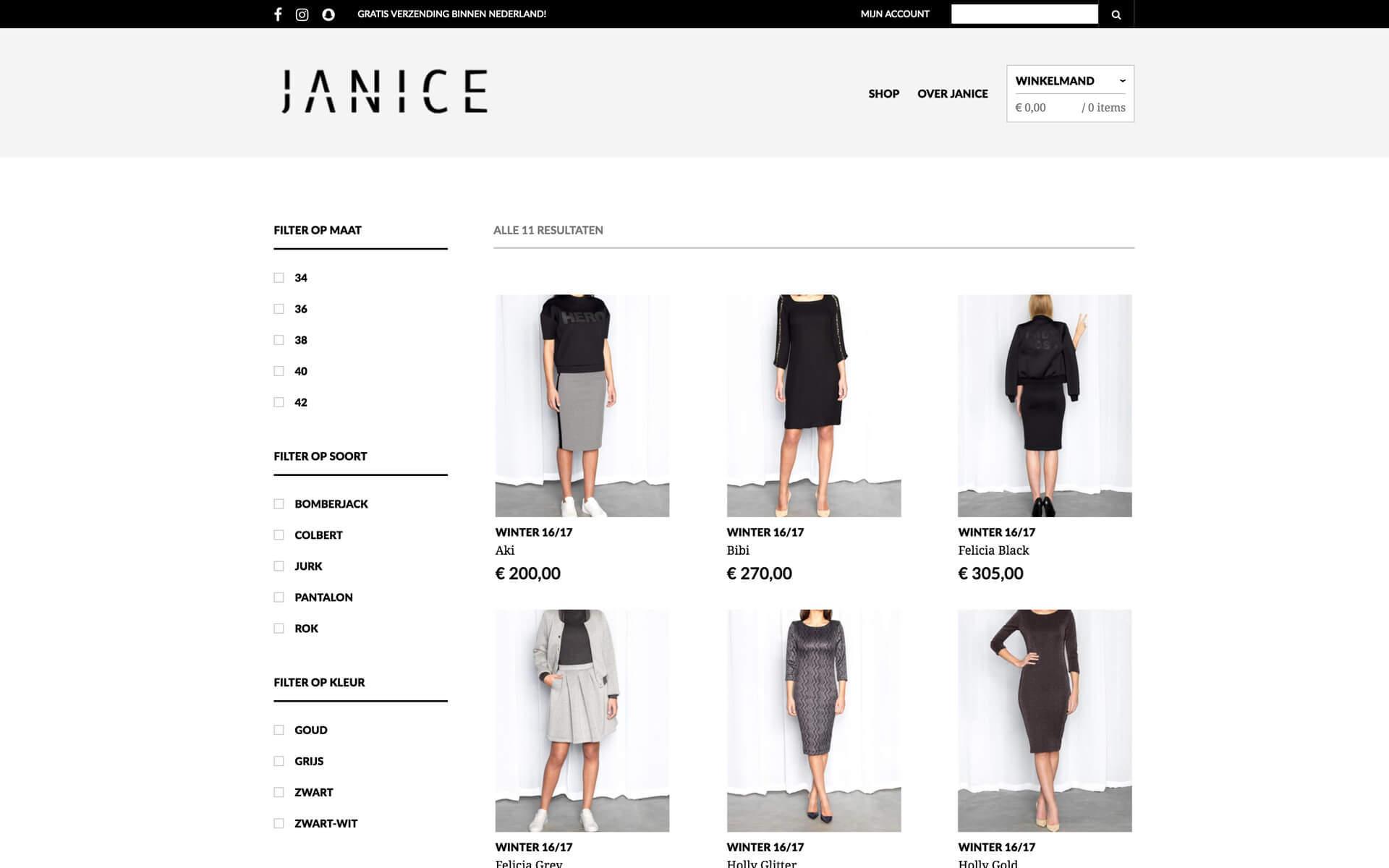 webshop.justjanice.nl desktop preview