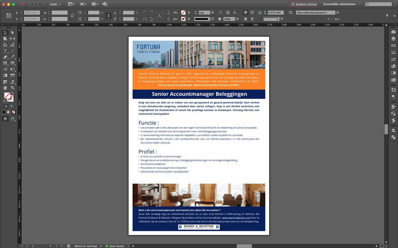 Vacature ontwerp voor Senior Accountmanager bij Fortuna Financial Planning