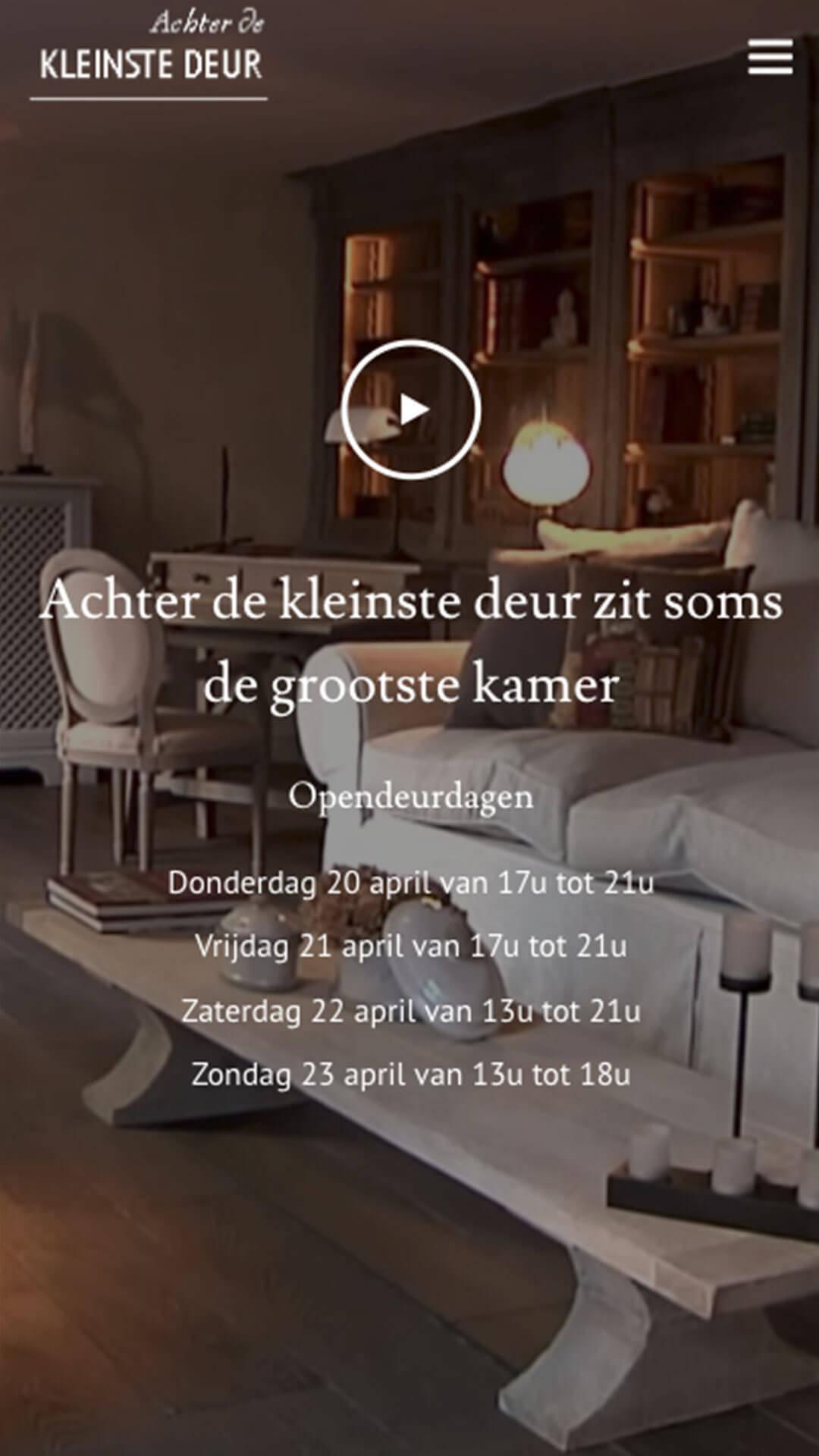achterdekleinstedeur.be mobile preview