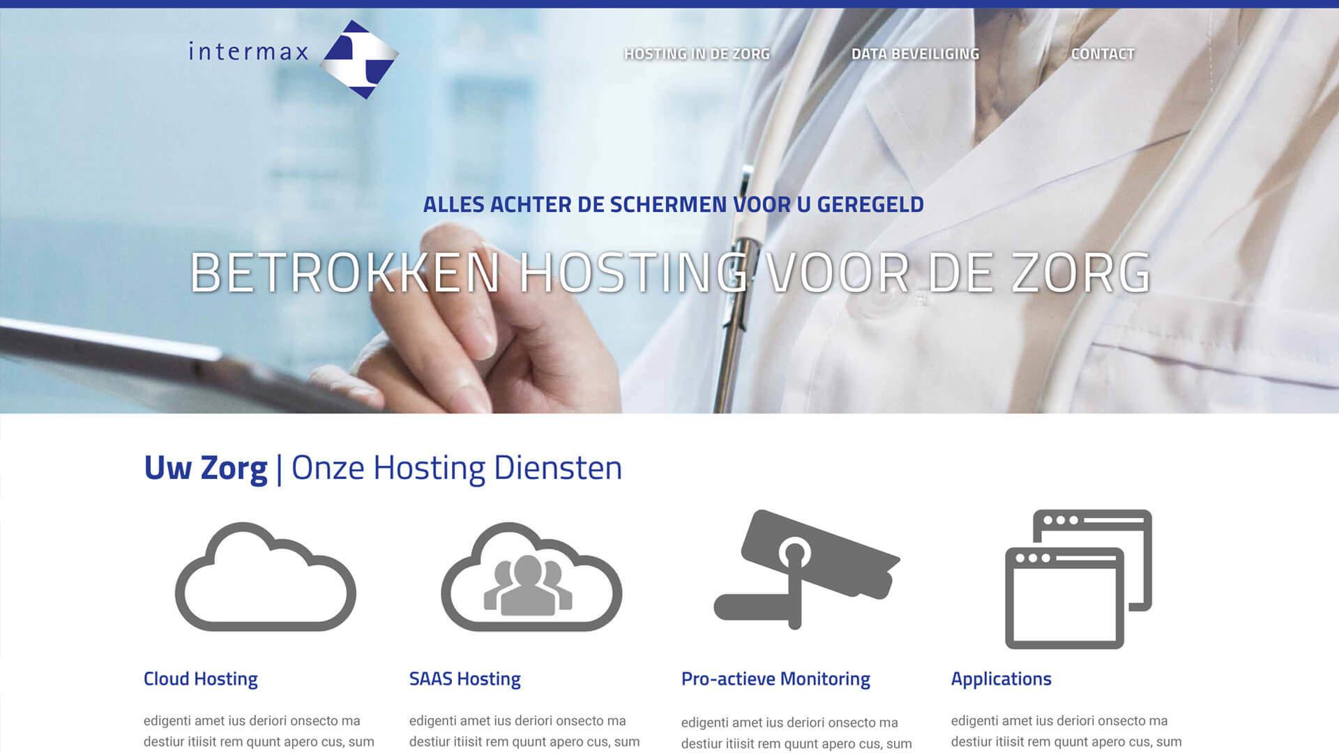 hostingindezorg.nl desktop preview
