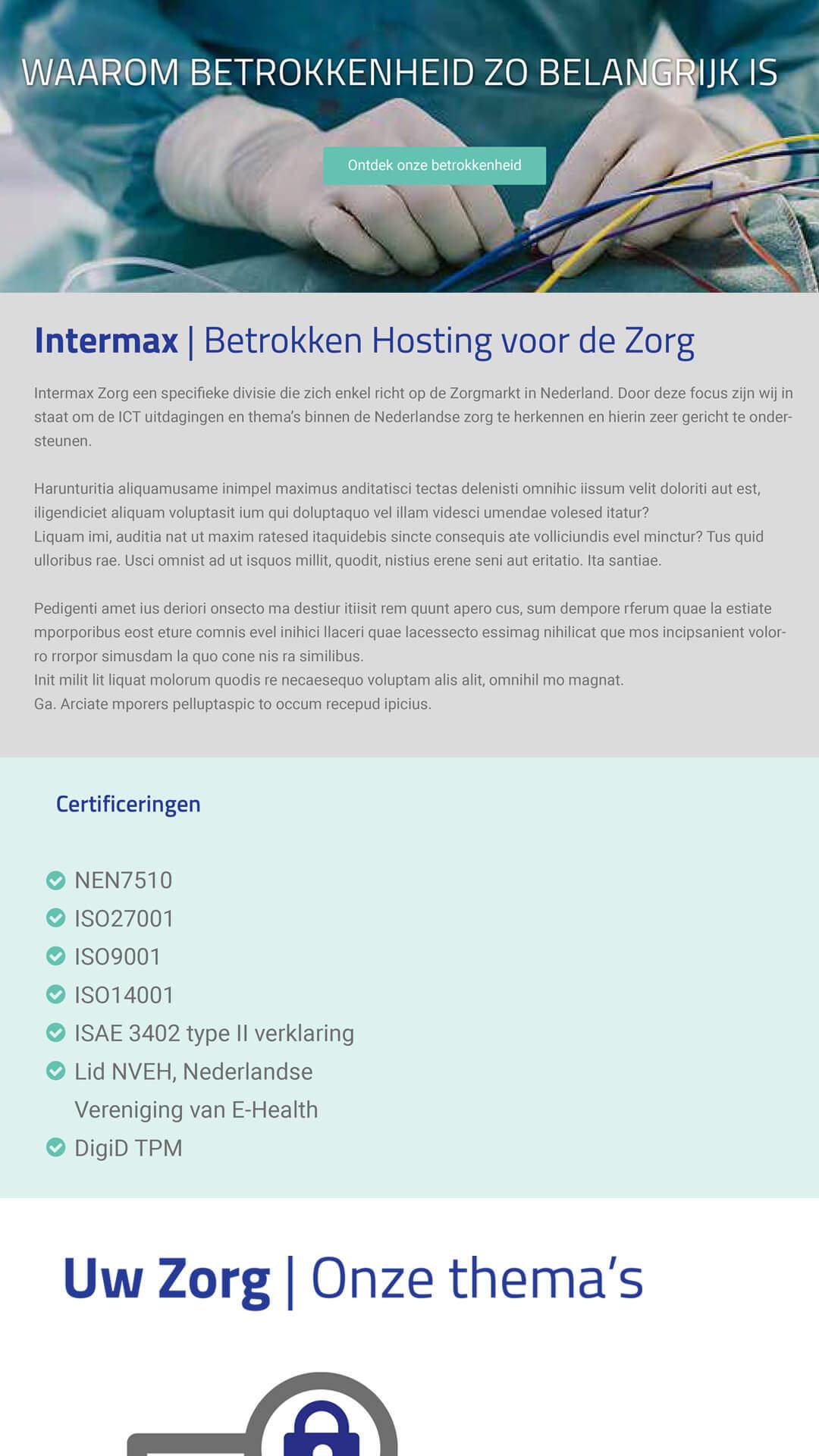 hostingindezorg.nl mobile preview