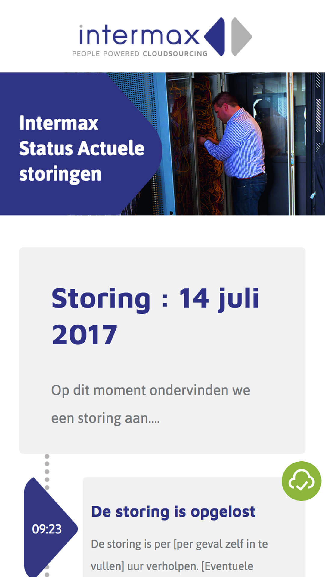 intermaxstatus.nl mobile preview