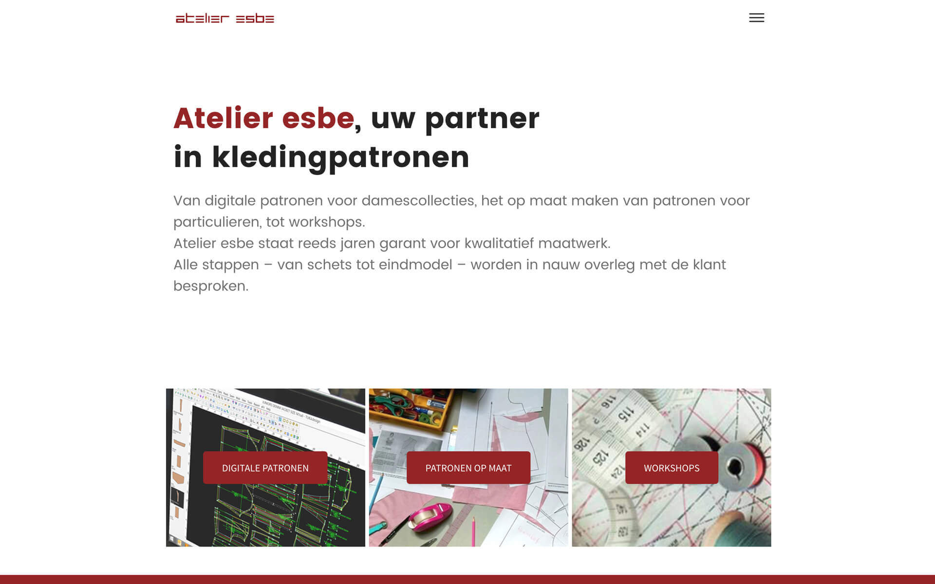 atelieresbe.be desktop preview