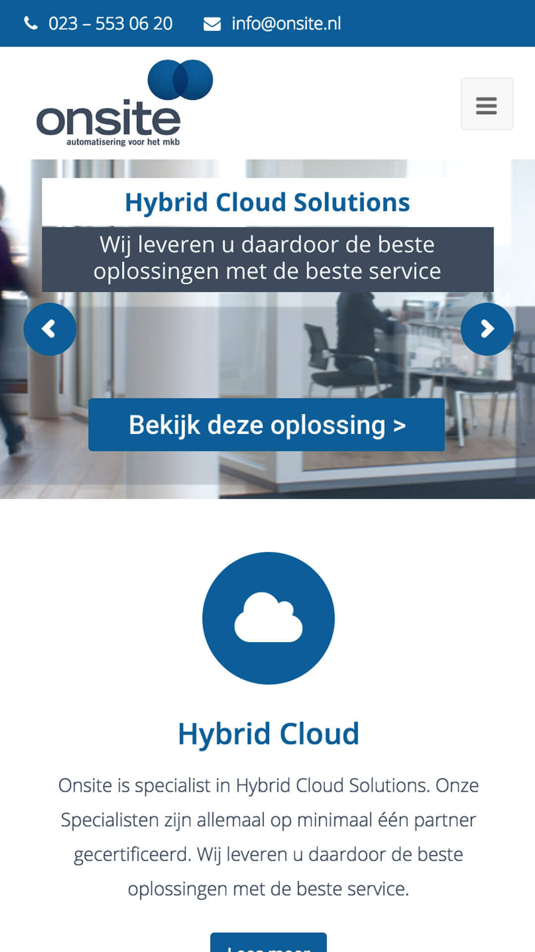 onsite.nl mobile preview