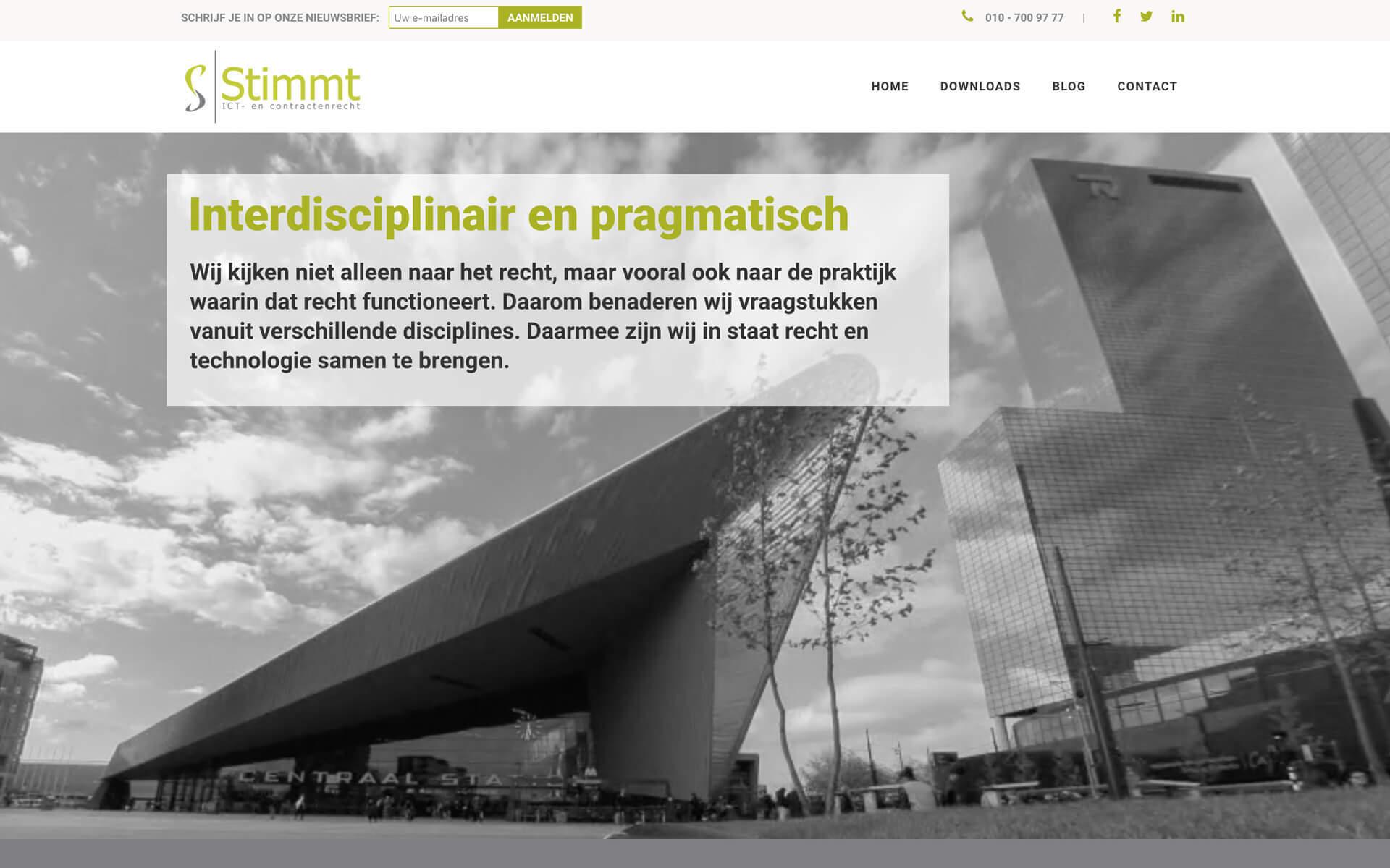 stimmt.nl desktop preview