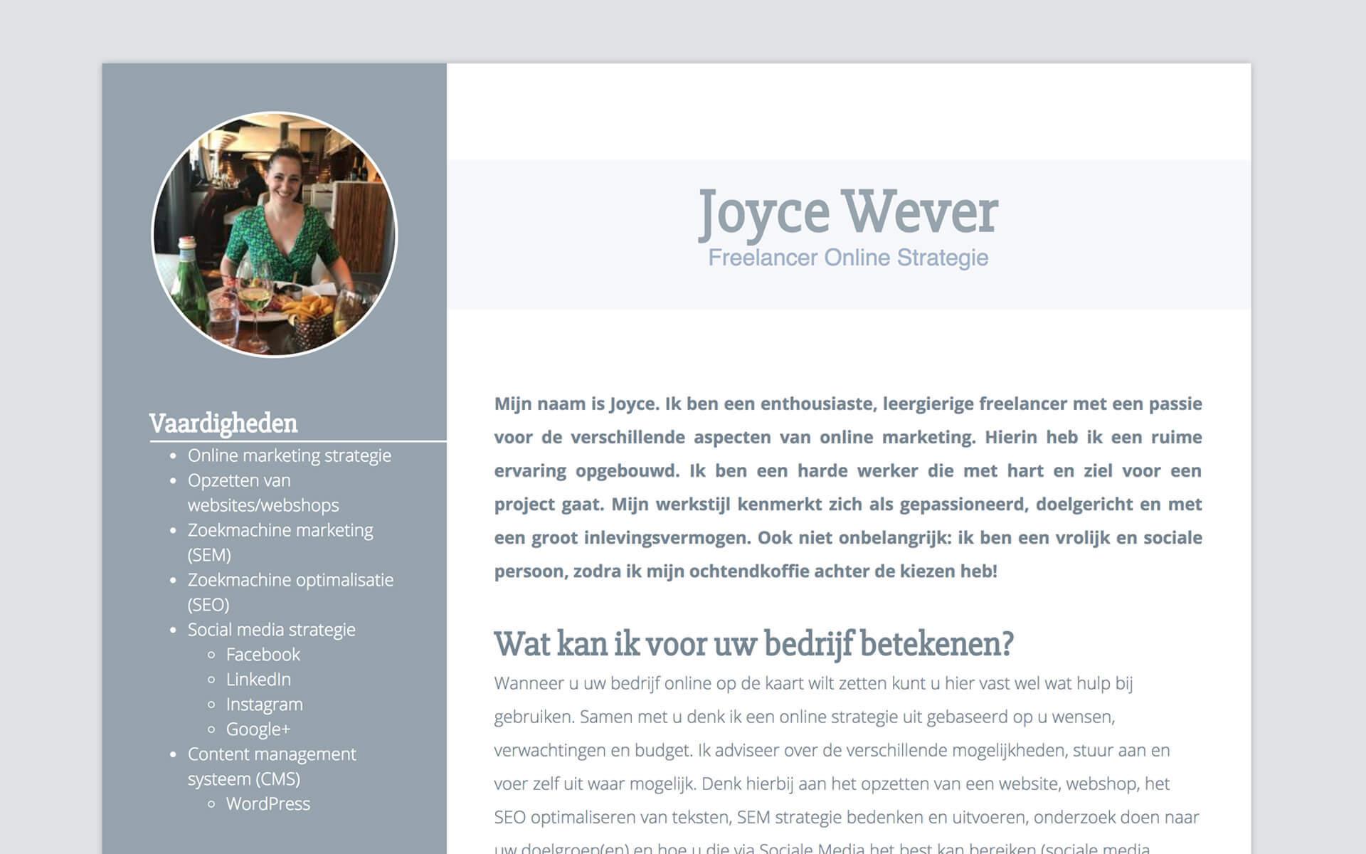 joycewever.be desktop preview