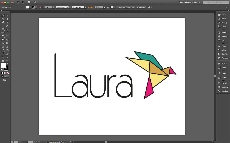 Logo ontwerp voor geboorte drukwerk meisje