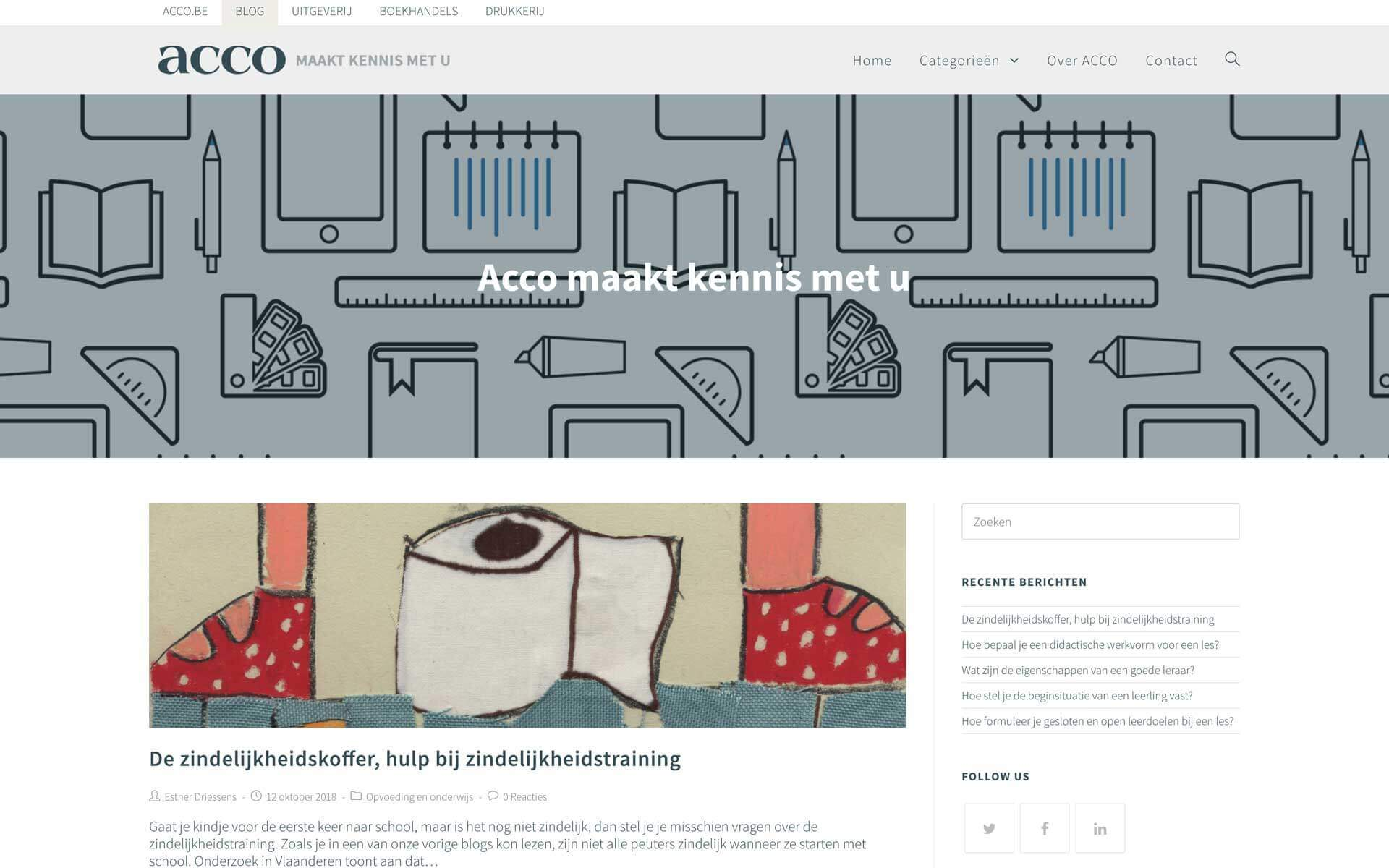 blog.acco.be desktop preview