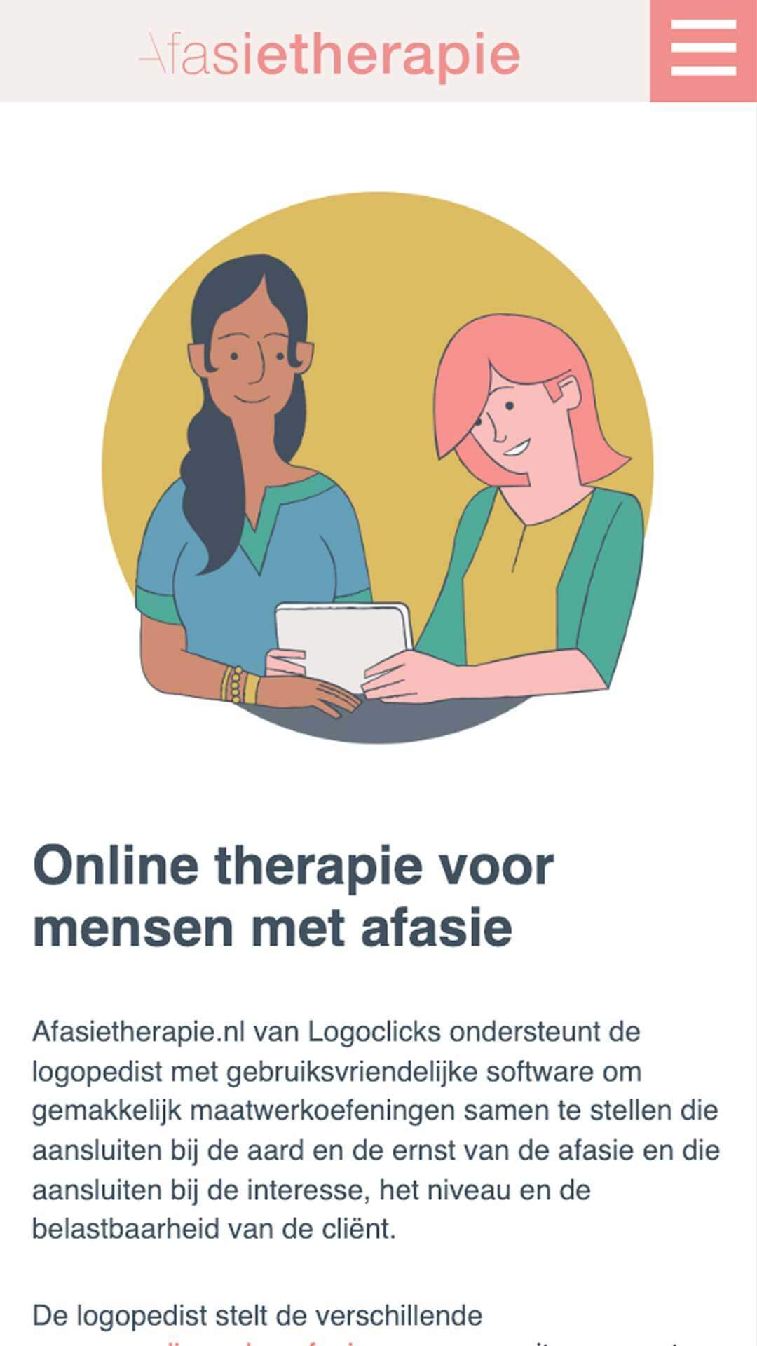 afasietherapie.be / afasietherapie.nl mobile preview