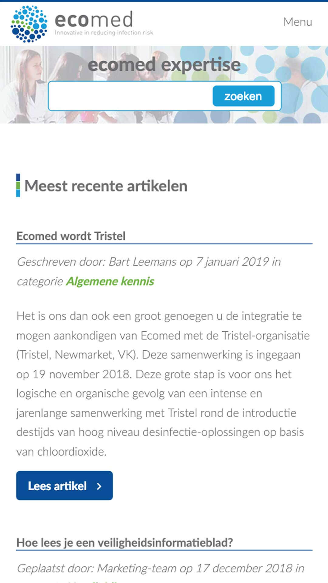 expertise.ecomed.be Ecomed Expertise mobile preview