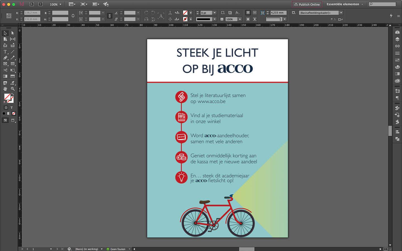 Poster ontwerp voor acco aandeelhouders campagne
