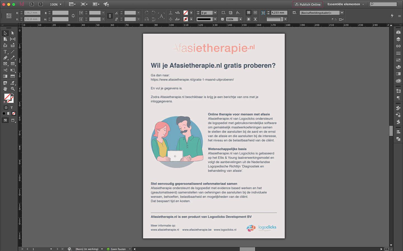 Ontwerp flyer te promotie van afasietherapie