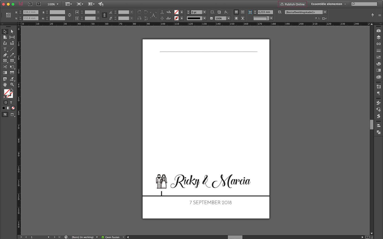 Huwelijksdrukwerk ontwerp briefpapier