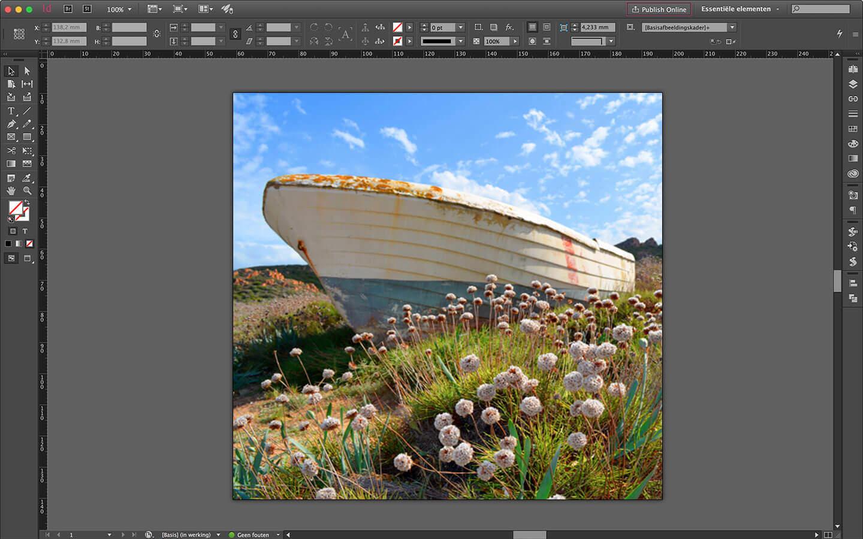 Ontwerp spanframe voor particulier interieur - verwisselbare wanddecoratie - boot