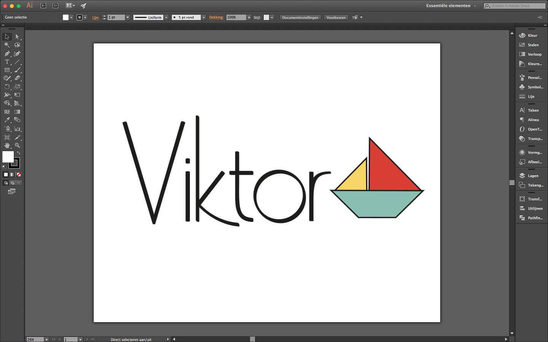 Logo ontwerp voor geboorte drukwerk jongen