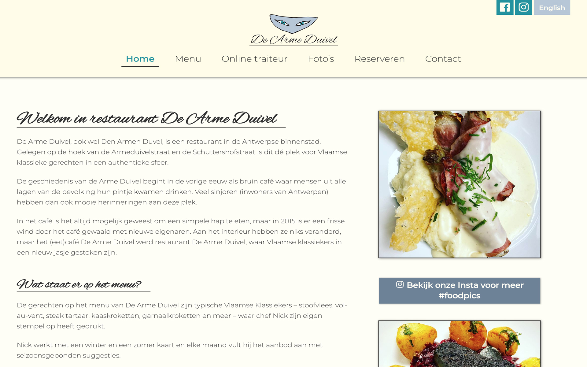 Restaurant Arme Duivel desktop preview