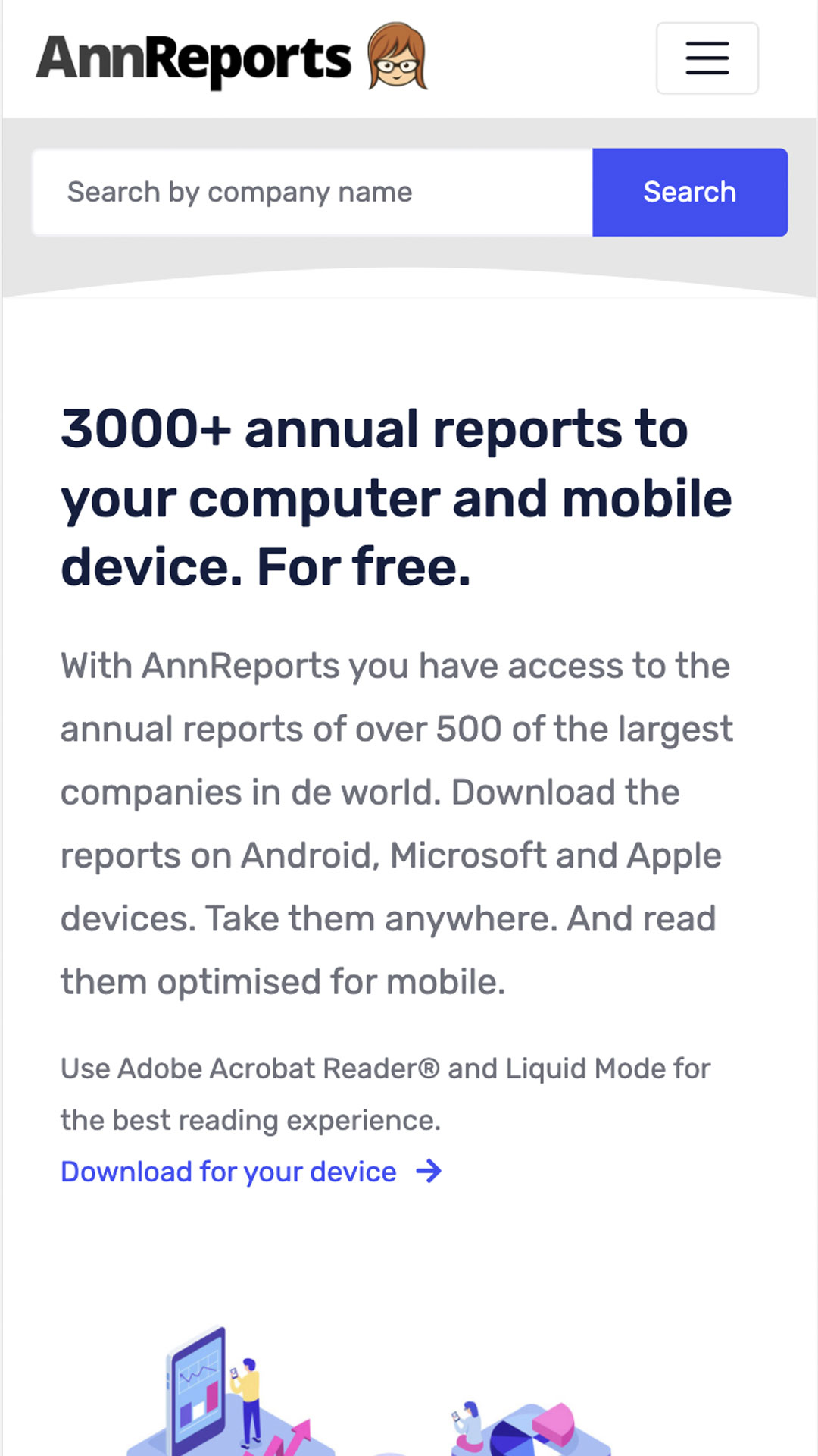 Annreports mobile preview