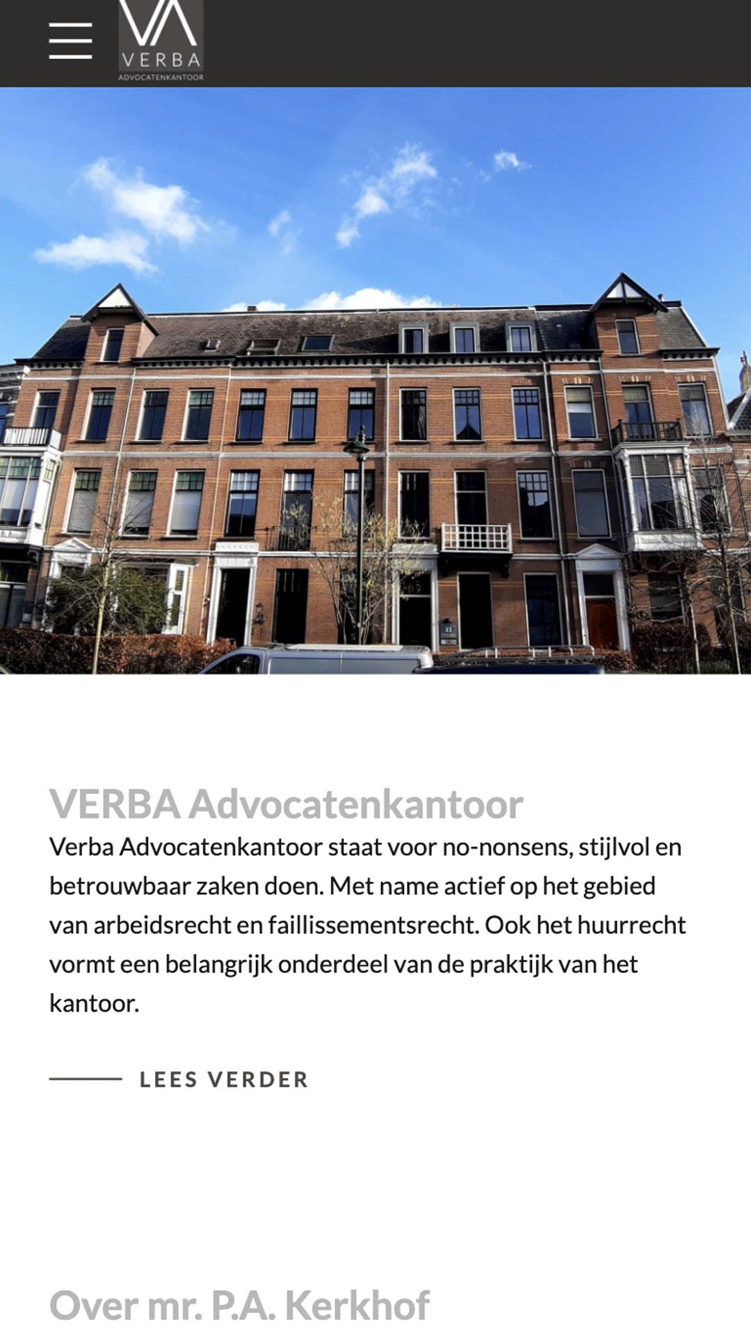 verba-advocatenkantoor.nl mobile preview