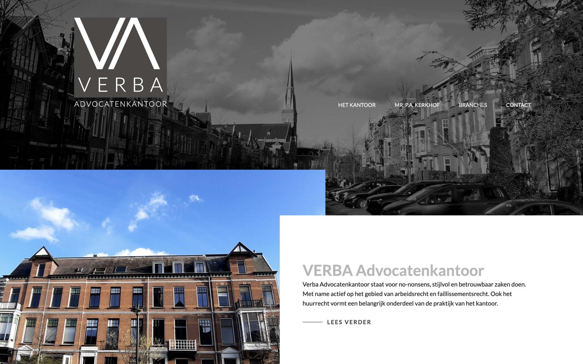 verba-advocatenkantoor.nl desktop preview
